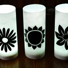 Parchment paper and puck light luminaries. The easiest paper craft project ever!