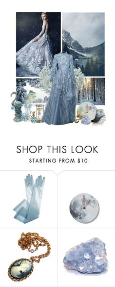 """""""Take a closer look  at the snowflakes, she is there..."""" by paper-cloud ❤ liked on Polyvore featuring Anastasia, Winter and Blue"""
