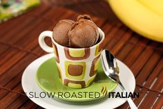 "Simple 2 Ingredient Chocolate Banana ""Ice Cream"""
