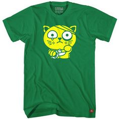 "Sad Neko is sad. ""Unlucky Neko"" T-shirts by Delme are now available in custom colors for all ages. Build your own at http://freshism.com/unlucky-neko-tshirt."