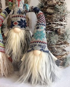 Gnome Troll Christmas Swedish Tomte Nisse by DaVinciDollDesigns Swedish Christmas, Christmas Gnome, Scandinavian Christmas, Christmas Projects, Christmas Holidays, Christmas Ornaments, Nordic Christmas Decorations, Scandinavian Gnomes, Scandinavian Style