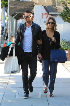Jessica Alba shopping with Cash Warren in Beverly Hill