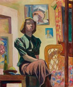 Self Portrait, 1937 by Tove Jansson on Curiator, the world's biggest collaborative art collection. Art And Illustration, Illustrations, Tove Jansson, Art Magique, Digital Museum, Collaborative Art, Female Art, Les Oeuvres, Art Inspo