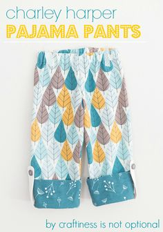 PJ pant tutorial for birch fabrics-with free one size pattern! - The Adventures of Rory and Jess and Sadie