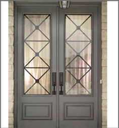 Double Front Entry Doors, Iron Front Door, Double Doors Exterior, Double Glass Doors, Wood Front Doors, Front Door Entrance, Glass Front Door, Sliding Glass Door, Barn Doors