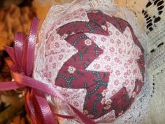 Ornament Christmas Ornament Patchwork Quilted by SuzyQsVintageShop, $7.75