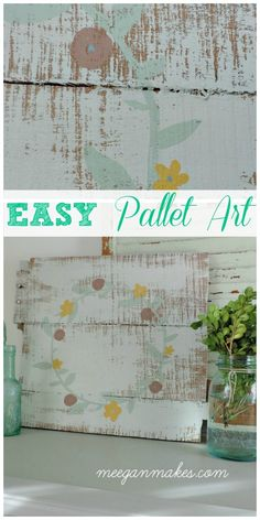 EASY DIY Pallet Art. You could make this yourself without power tools.