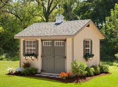 Wouldn't it be great to have a charming little garden shed for tool storage that's as lovely as the gardens you'll be planting this spring? #housetrends www.alpinestructures.net