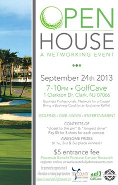 September is Prostate Cancer Awareness Month! Join Tastefully Done Events and Tri-County Chamber of Commerce by coming to our GolfCave open house networking event! Your $5 entrance fee will benefit prostate cancer research.