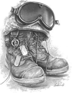 Leading Tattoo Magazine & Database, Featuring best tattoo Designs & Ideas from around the world. At TattooViral we connects the worlds best tattoo artists and fans to find the Best Tattoo Designs, Quotes, Inspirations and Ideas for women, men and couples. Helmet Drawing, Soldier Drawing, Army Tattoos, Military Tattoos, Fallen Soldier Memorial, Fallen Soldiers, Cross Drawing, Army Drawing, War Tattoo