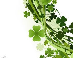 Free clovers PowerPoint template design over white background