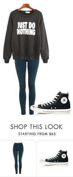 """Untitled #186"" by cruciangyul on Polyvore featuring Topshop and Converse"