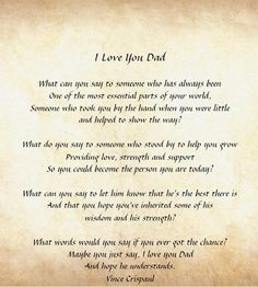 I Love You Dad --- Fathers Day Quotes comment, facebook graphics, pictures, images, scraps - 4341