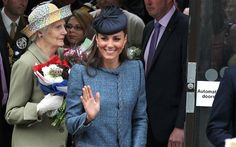 The Duchess of Cambridge waves to the crowds in Nottingham Photo: Beretta/Sims / Rex Features