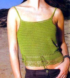 MATERIALES: 150 gramos de hilo en color verde oliva del grueso suficiente para ser trabajado con una aguja de crochet de acero nº 2,...