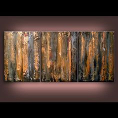 art original painting weathered wood abstract earth by mattsart, $475.00