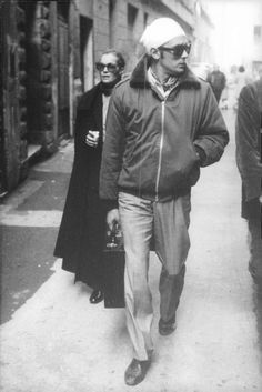 The Assassination of Trotsky (1972). Romy and Alain looking SO cool.