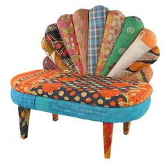 Peacock Love Chair III    great pop of teal