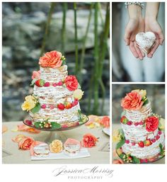 LOVE this naked cake & beautiful colour combination | #myweddinginvite | For all your wedding invite needs, visit www.myweddinginvite.co.nz | Customizable & DIY Printable