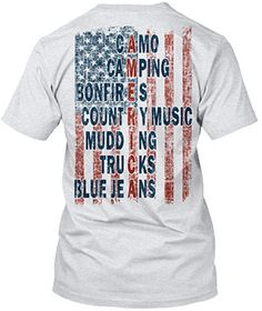 America - Camo, Camping, Bonfires, Country Music