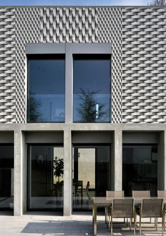 Modern facade and outdoor decoration of wall & Decò Outdoor Walls, Outdoor Spaces, Outdoor Decor, Facade Design, Wall Design, Environmental Graphic Design, Contemporary Wallpaper, Photo Wallpaper, Architecture Details