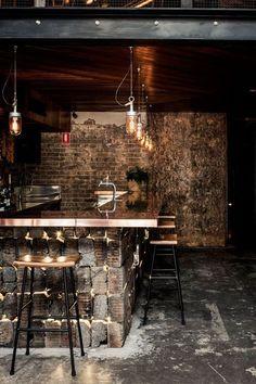 Timber + brass bar