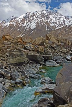 Gunt River, Pamir, Tajikistan