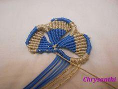 ΔΙΧΡΩΜΟ ΛΟΥΛΟΥΔΙ | kentise Macrame Design, Friendship Bracelets, Crochet Necklace, Beaded Bracelets, Band, Accessories, Jewelry, Key Fobs, Tutorials