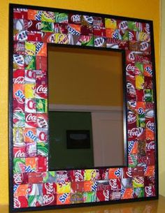recycle crafts made with soda cans   colarafic (over at Craftster.org) was inspired by the mod kitchen ...