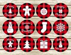 Christmas Topper, Plaid Christmas, Simple Christmas, Winter Christmas, Christmas Svg, Christmas Ornaments, Christmas Stickers Printable, Christmas Crafts For Gifts, Christmas Gift Tags