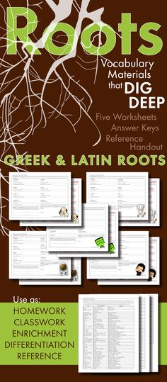 Teach teens to use Greek and Latin roots, prefixes, and suffixes to master…