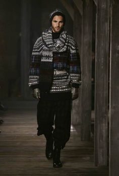 Chanel Men Pre Fall-Winter 2013-2014 'Metiers d'Art' ~ Men Chic- Men's Fashion and Lifestyle Online Magazine-ohh very unique look for cold days!