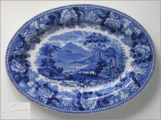 Wedgewood blue serving plate.