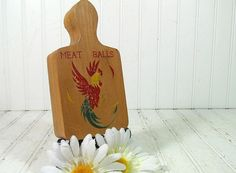 Vintage Wooden Meat Balls Press Retro Food Ball by DivineOrders, $9.00