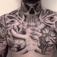 Tattoosmenschest Awesome Tattoos Pinterest Tattoos Chest