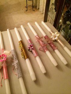 Wedding Candles By Religion Orthodox Easter, Greek Easter, Baptism Candle, Palm Sunday, Sunday School Crafts, Wedding Flower Arrangements, Diy Candles, Spring Crafts, Easter Crafts
