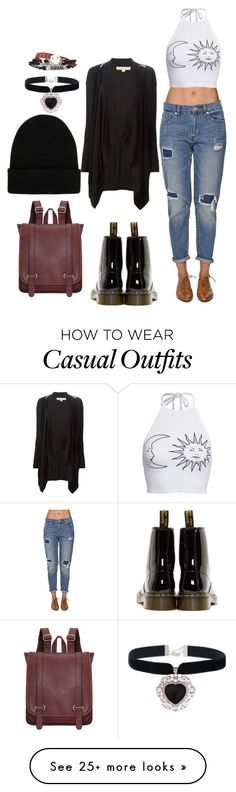 """""""Casual"""" by chap15906248 on Polyvore featuring Bullhead Denim Co., Boohoo, MICHAEL Michael Kors, Dr. Martens, Rock 'N Rose and NLY Accessories"""