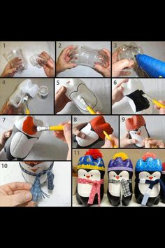 Plastic bottle penguins..cute :)