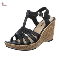 Ital-Design , Sandales femme - noir - noir, 37 EU EU - Chaussures ital design (*Partner-Link)
