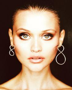 Sterling Silver Asymmetrical Infinity Earrings. Statement, Designer Earrings. Drop earrings. Helix earrings. Helix Earrings, Drop Earrings, Sterling Silver Earrings, Silver Jewelry, Infinity Earrings, Hanging Necklaces, Earrings Photo, Wide Rings, Designer Earrings