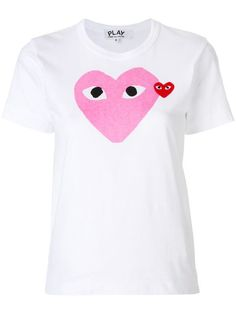 Check out Comme Des Garçons Play with over 4 items in stock. Shop Comme Des Garçons Play heart logo T-shirt today with fast Australia delivery and free returns. White Cotton T Shirts, White Tees, Cotton Tee, Play Hearts, Comme Des Garcons Play, T-shirt Logo, Clothing Logo, Play Clothing, Heart Logo