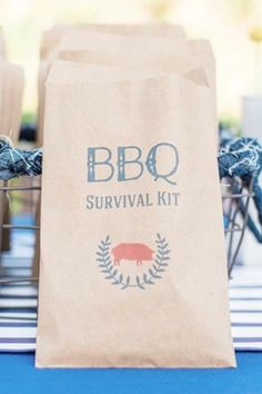 Place your cutlery and napkins in these individual paper bags with this fab BBQ design, so that your guests can feel secure knowing that no one else has touched them. Set them out and let your guest help themselves to their own bag. See more party ideas and share yours at CatchMyparty.com #catchmyparty #partyideas #bbq #summerbbq #bbqparty #partyideas #summer #grill Free Summer, Summer Bbq, Summer Parties, Bbq Party, Beach Party, Summer Birthday, Birthday Parties, Summer Cakes, Craft Party