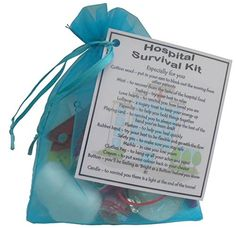 Hospital Survival Kit Gift (Small novelty good luck / get well soon gift)