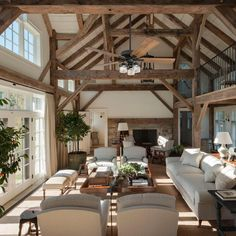 Prominence Home Canoe Ridge Farmhouse 52 Aged Bronze LED Ceiling Fan, Linen Drum Light, 3 Speed Remote, Brown Home Living Room, Living Room Designs, Living Room Decor, Rustic Living Rooms, Living Room Ceiling Fan, French Living Rooms, Rustic Farmhouse, Rustic Barn Homes, Rustic Houses