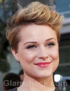 Evan Rachel Wood Sports Pixie haircut