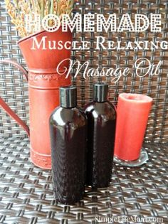 This Muscle Relaxing Massage Oil recipe is full of great essential oils that will soothe pain, help reduce inflammation, and stop cramps and spasms.
