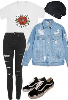 Polyvore Outfits, Polyvore Casual, Cute Outfits For School, Teenage Outfits, Teen Fashion Outfits, Casual Grunge Outfits, Trendy Outfits, Emo Outfits, Grunge School Outfits