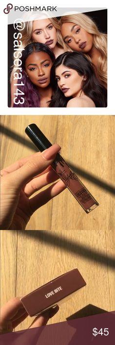 Kylie cosmetics in shade Love Bite lipkit Brand new / unused lipkit in shade Love Bite. love Bite is a rich plum Brown. Perfect for the Fall!!!  5 Star rating ⚡️Fast shipping NO TRADES ❤️Accepting Offers No low balling  ʄơɩɩơω ɱɛ ơŋ Iŋʂɬąɠཞąɱ @Stephanie_poshfinds Kylie Cosmetics Makeup Lipstick