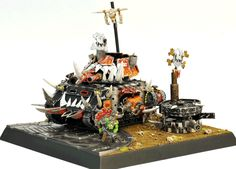 White Dwarf Archive, Japan's Grand Painting Contest, Ork Looted Wagon diorama, Dawn of War Remake, Warhammer 40k.