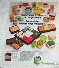 1980 ad Tupperware food containers VINTAGE AD in Collectibles, Advertising, Merchandise & Memorabilia Retro Ads, Vintage Ads, Vintage Designs, Vintage Tupperware, Vintage Kitchenware, Old Advertisements, Oldies But Goodies, Old Kitchen, Retro Home